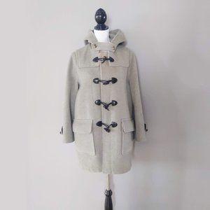 Burberry grey Merton wool duffle coat